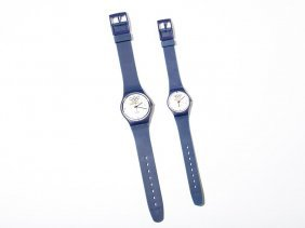 Olympic Set Of 2 Swiss Swatch Watches For His & Hers,