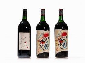 3 Magnum Bottles Of 1985 And 1988 Vintage Bordeaux