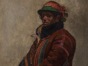 Painting, Portrait Of A Young Man, Latin America, 19th