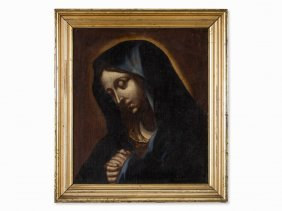 Oil Painting, Mater Dolorosa, Europe, 2nd Half 19th