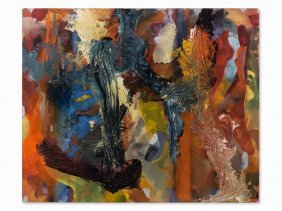 Thomas Reinhold, Oil On Canvas, Natur Der Malerei, 1988