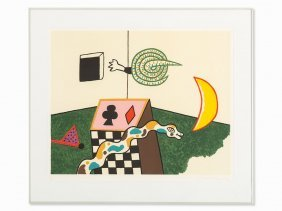 Alan Davie (1920-2014), Lithograph In Colors, Snake