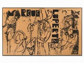 Markus Lüpertz, Poster Markus Lüpertz, Serigraphy, 1984