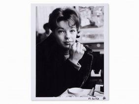 Roger Fritz, Photography, Romy Schneider, Signed, 1961