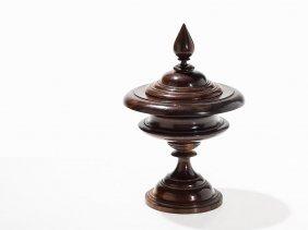 Wooden Lidded Vessel, Turned Shape, Southern Germany,