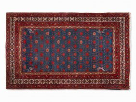 Persian Rug With Stylized Floral Pattern, Iran, 1970s