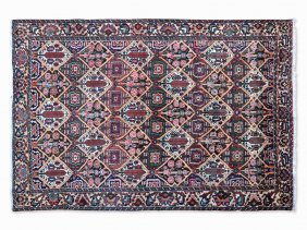 Bakhtiari, Carpet With Floral Pattern, Persia, 1930s