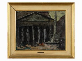 José Beulas Recasens (b. 1921), Pantheon In Rome, Oil,