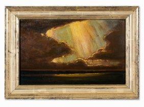 Robert Büchtger (1862-1951), Cloud Studies, Oil,