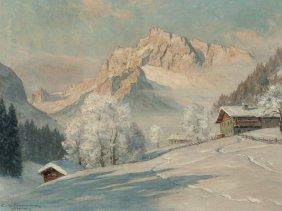 Erwin Kettermann (1897-1971), Winter Morning, Oil, 20th
