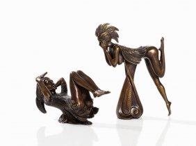 Ernst Fuchs, Papageno And Papagena, 2 Bronzen, 2012