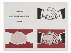 Roy Lichtenstein, Handshake Poster, Offset In Colors,