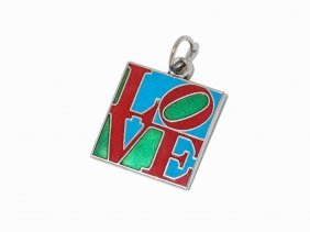 After Robert Indiana (b. 1928), Classic Love, Pendant,