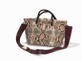 chloe hangbags - A Chloe Metallic Python Silverado Bag, 15 1/2 x 7 x 6 : Lot 83
