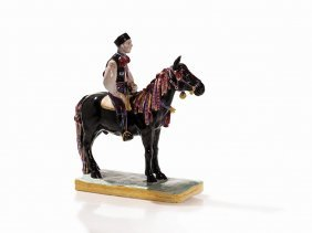 Slovakian Equestrian, Majolica, Presumably Slovakia,