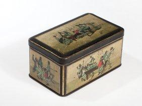 Black Americana Tin Box For Little Folk Pudding,