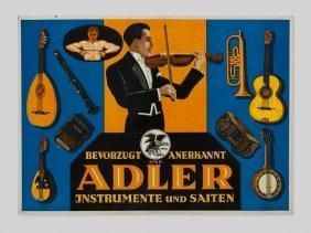Embossed Advertising Cardboard For Adler Instruments,