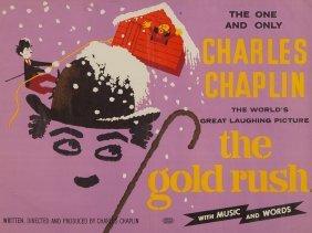 "Movie Poster ""charlie Chaplin – The Gold Rush"", London,"