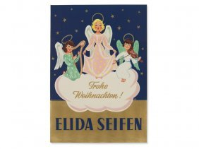 Christmas Poster 'elida Soaps', Vienna, Early 20th C