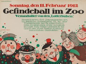 Martin Jacoby-boy, Poster 'gesindeball Im Zoo', 1912