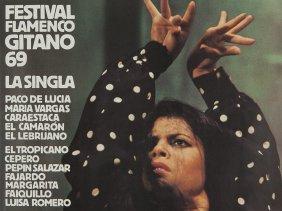 Original Advertising Poster 'festival Flamenco Gitano',