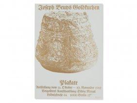 Heiner Bastian, Exhibition Poster 'gold Cake', Berlin,