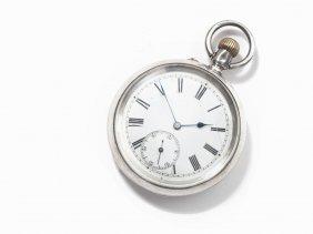 James Mccabe Sterling Silver Pocket Watch, London, 1885