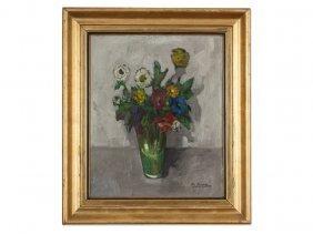 Giovanni Bartolena Circle, 'floral Still Life' By,