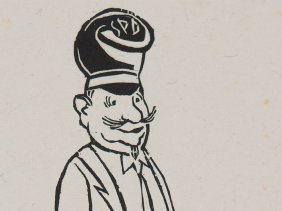 """Woodcut """"member Of The Socialist Party"""", Franz M."""