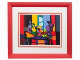 Marcel Mouly, Nature Morte Avec Objects, Serigraph,