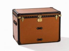 Louis Vuitton, Orange Vuittonite Canvas Steamer Trunk,