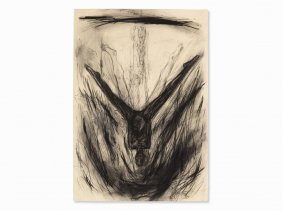 Rainer Wölzl, Untitled, Charcoal Drawing, 1986