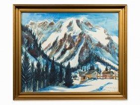 Franz Heckendorf (1888-1962), Snowy Mountains,