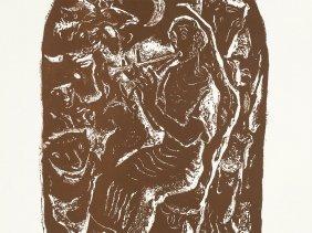 Willi Geiger, Orpheus, Lithograph, 1957