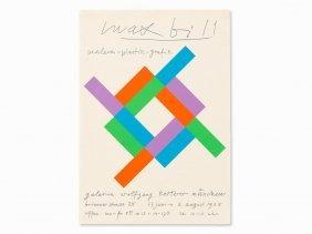 Max Bill, Exhibition Poster, White Square, Serigraph,