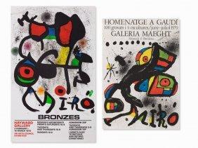 Joan Miró, 2 Exhibition Posters, Color Lithographs,