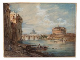 Carl Hummel, The Tiber & Castel Sant'angelo,