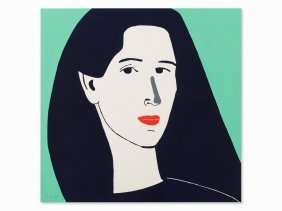 Alex Katz, Diana, Linocut In Colors, 2014