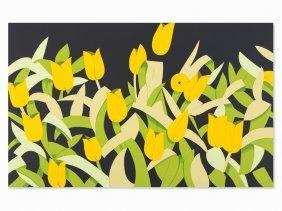Alex Katz, Yellow Tulips, Serigraph In Colors, 2014