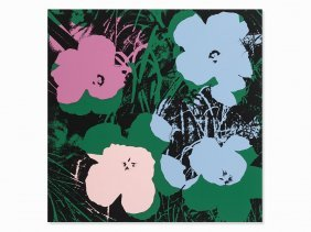 After Andy Warhol, Flowers, Color Serigraph, 1970/