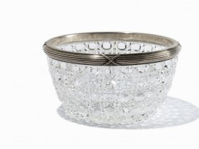 Fabergé, Crystal Bowl With Silver Mounting, Moscow,