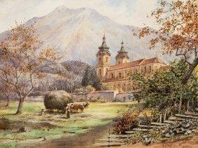 Karl Wenzel Zajicek, Watercolor, 'spital Am Pyhrn', C.