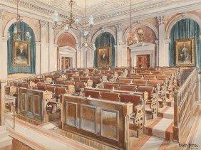 Erwin Pendl (1879-1945), Watercolor, Vienna Stock