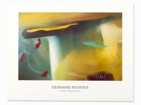Gerhard Richter, Abstract Painting, Color Offset Print,