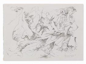 Bernard Schultze (1915-2005), Sirenen-spiel, Pencil,