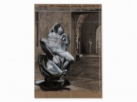 Christo & Jeanne-claude, Sleeping Faun, Mixed Media,