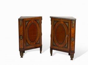 Jean-françois Leleu, A Pair Of Corner Cabinets, Paris,