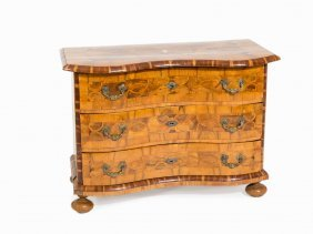 A Baroque Chest Of Drawers, Ivory Inlays, Braunschweig,