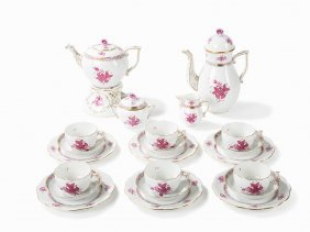 Herend, Coffee And Tea Set For 6 Persons, Apponyi, C.