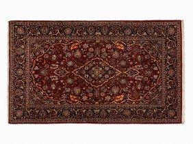 Persian Keschan With A Decorative Flower Pattern, Iran,